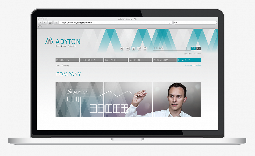 Adyton Systems | Corporate Design | Website | Company