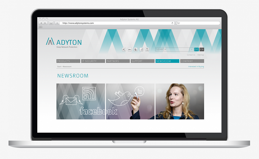 Adyton Systems | Corporate Design | Website | Newsroom