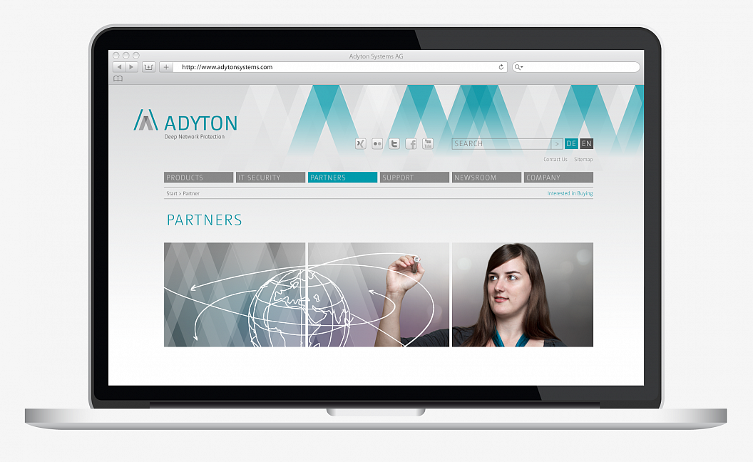 Adyton Systems | Corporate Design | Website | Partners