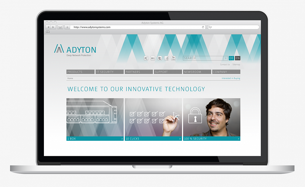 Adyton Systems | Corporate Design | Website | Home
