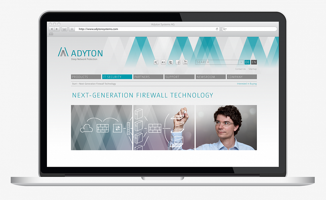 Adyton Systems | Corporate Design | Website | Technology