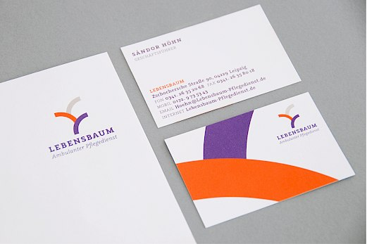 Lebensbaum | Ambulanter Pflegedienst | Corporate Design | Visitenkarten