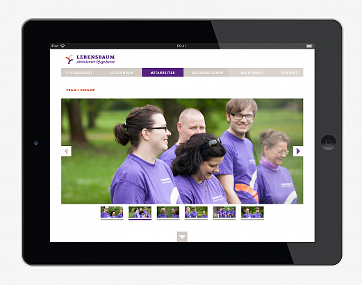 Lebensbaum | Ambulanter Pflegedienst | Corporate Design | Website Teambilder