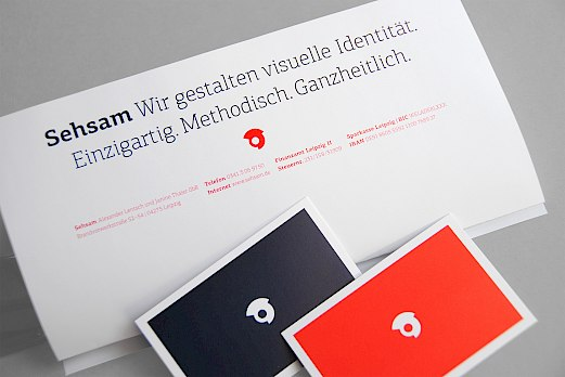 Sehsam | Corporate Design | Briefpapier und Visitenkarten
