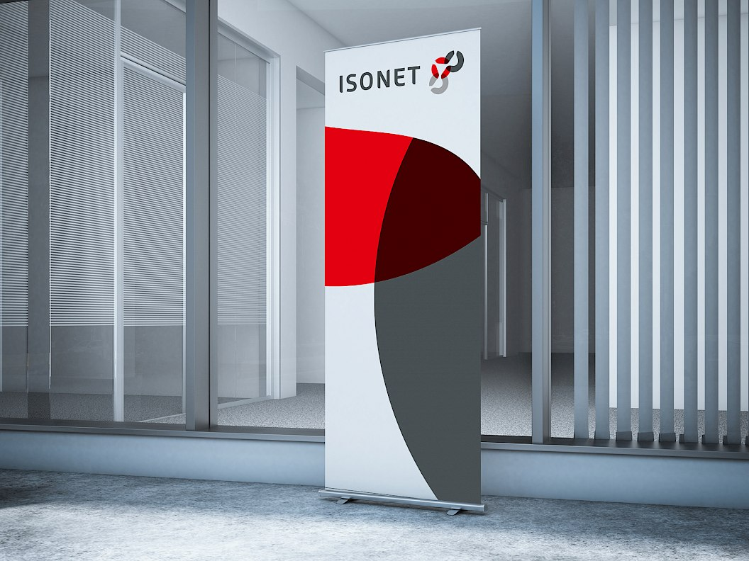 Isonet AG | Corporate Design | Roll-Up