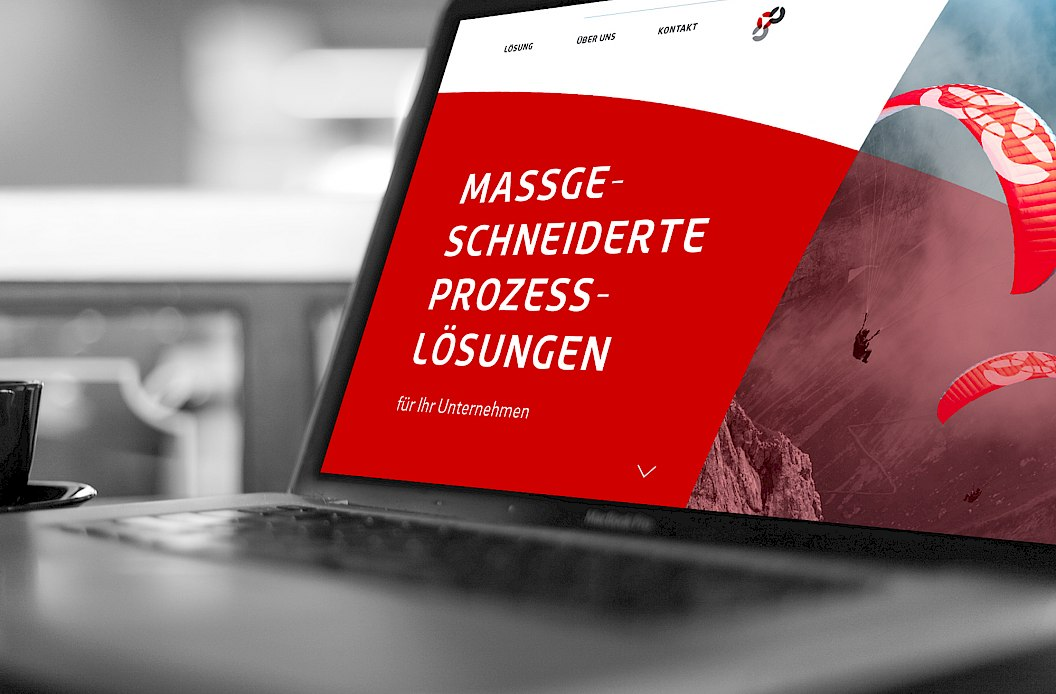 Isonet AG | Corporate Design | Corporate Website im responsive Design | Startseite mit Bildslider | Laptop